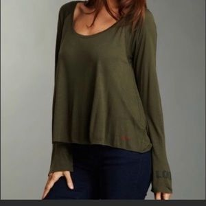 PLW Olive Green Swing Top